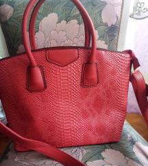 Nova crvena kao zmijska koža, torba