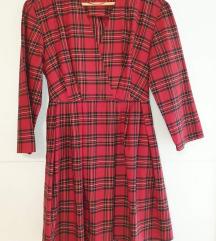 Zara karirana haljina xs-s/m