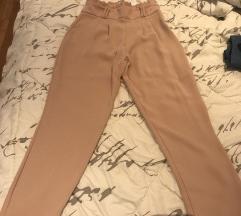 Puder roze Zara hlače