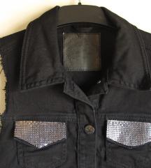 (% sniženo) Crni jeans prsluk