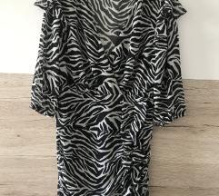 Bershka zebrasta haljina, L