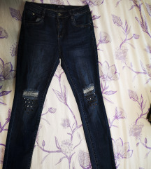 Ripped skinny traperice  38/40