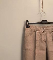 Lanene hlače na crtu XS