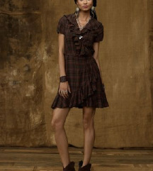karirana wrap haljinica Ralph Lauren