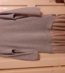 Siva duksa sa plisiranom suknjom M