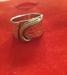 Bijelo zlato prsten