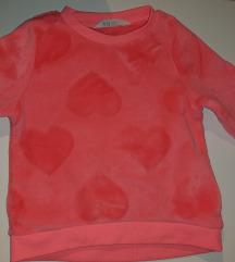 H&M  mekana roza majica 98/104