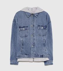 Zara jeans hoodie jakna NOVO vel S