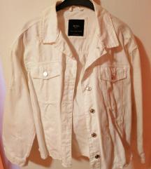 Bijela jeans jakna