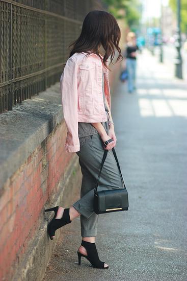 Ružičasta traper jakna