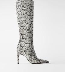 Zara zmijske cizme do koljena