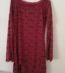 Seksi crvena čipkasta haljina/spavacica