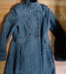 Kaput military Zara + čizme overknee