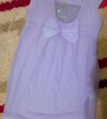 Siva haljina sa mašnom M