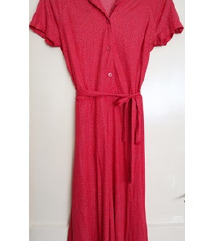 Nova vintage crvena haljina točkice vel. S/M