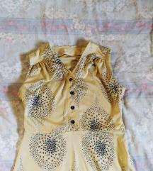 Retro vintage bež haljina