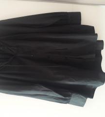 Zara crna oversize košulja na gumbe i vezanje XL