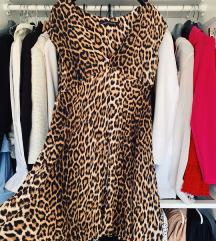 Zara tigrasta ljepršava haljina - kao novo