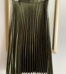 REPLAY metalik zelena suknja