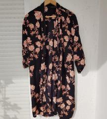 Crni cvjetni kimono / oversized