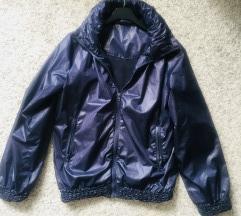 Tamnoplava šuškava jakna vel S-M