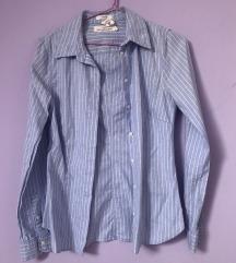 H&m prugasta strukirana košulja plava xs