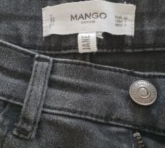 Nove Mango sive skinny push up trapke