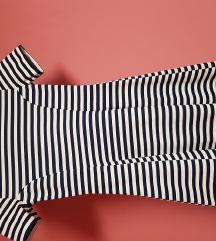 h&m mornarska kratka haljina 34