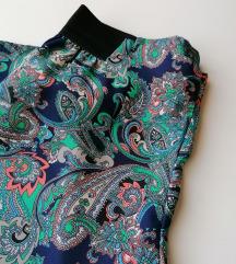 Ljetne široke hlače s printom XS / S