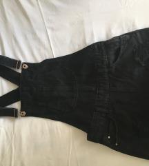 Jeans kombinezon-crni