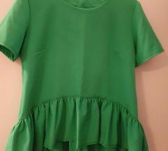 Zelena bluza sa volanom