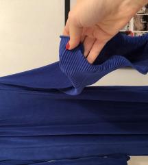 plava krep haljina zara M/L