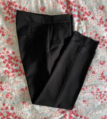 ZARA hlače s čipkom