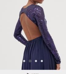 Duga svečana haljina sa šljokicama