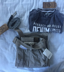 Muski lot ( hlace, remen i majica ) sa etiketom