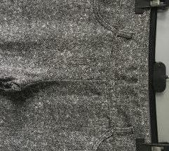 Prošarane sivo smeđe hlače