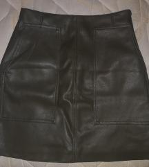 Mini kožna suknja