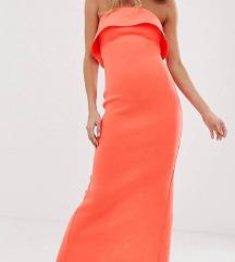 Asos scuba koraljna haljina