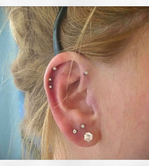 novo piercing za tragus helix