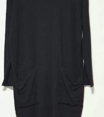 Zara crna haljina/tunika s džepovima