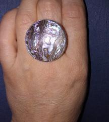 Prsten srebro /sedef