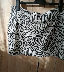 Crnobijela suknja vel. 42 10 kn