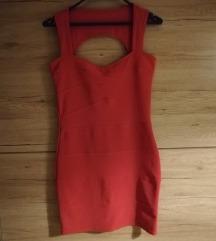 Roza bandage haljina