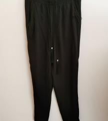 Lagane ljetne, lepršave, crne hlače
