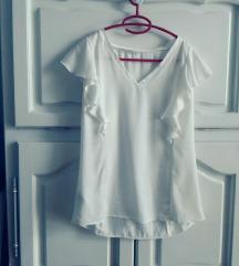 Svilenkasta bijela bluza Promod vel. 40