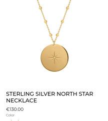 Borboleta north star ogrlica