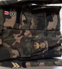 Bershka vojnička traper jakna