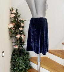 stefanel plišana suknja