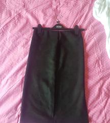 Crna suknja, brušena koža