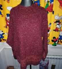 Vunena majica s vel crvena
